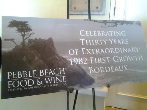 2012 Pebble Beach Food & Wine