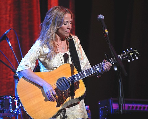 <p>Sheryl Crow performing the George Harrison standard &quot;My Sweet Lord&quot; during the charity event &quot;Change Begins Within&quot; to support the David Lynch Foundation.</p>
