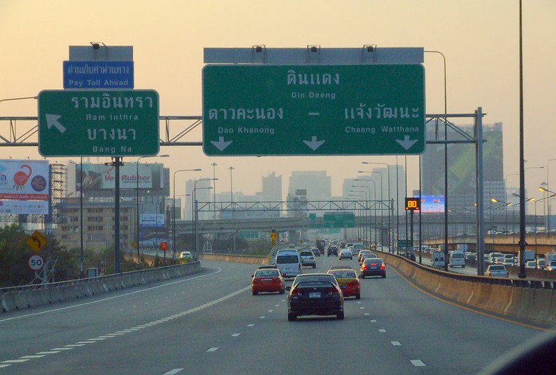 motorway from the airport to Bangkok city