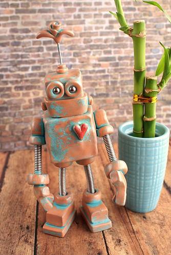 Patina Payo Robot Art Sculpture