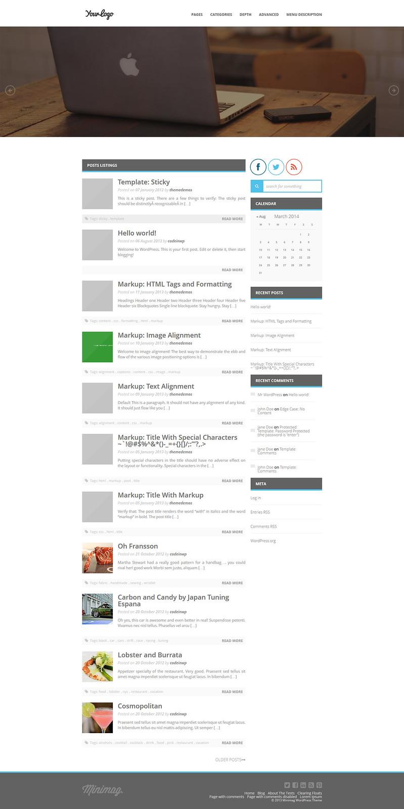 NiniMag WordPress Theme