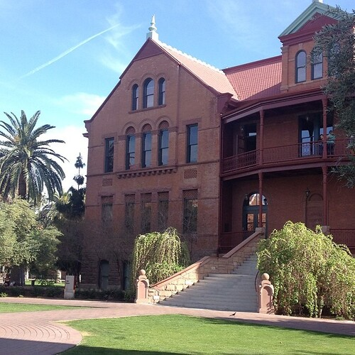 Beautiful part of the ASU campus #asu #asuoldmain #becraftyworkshopaz #becraftyaz