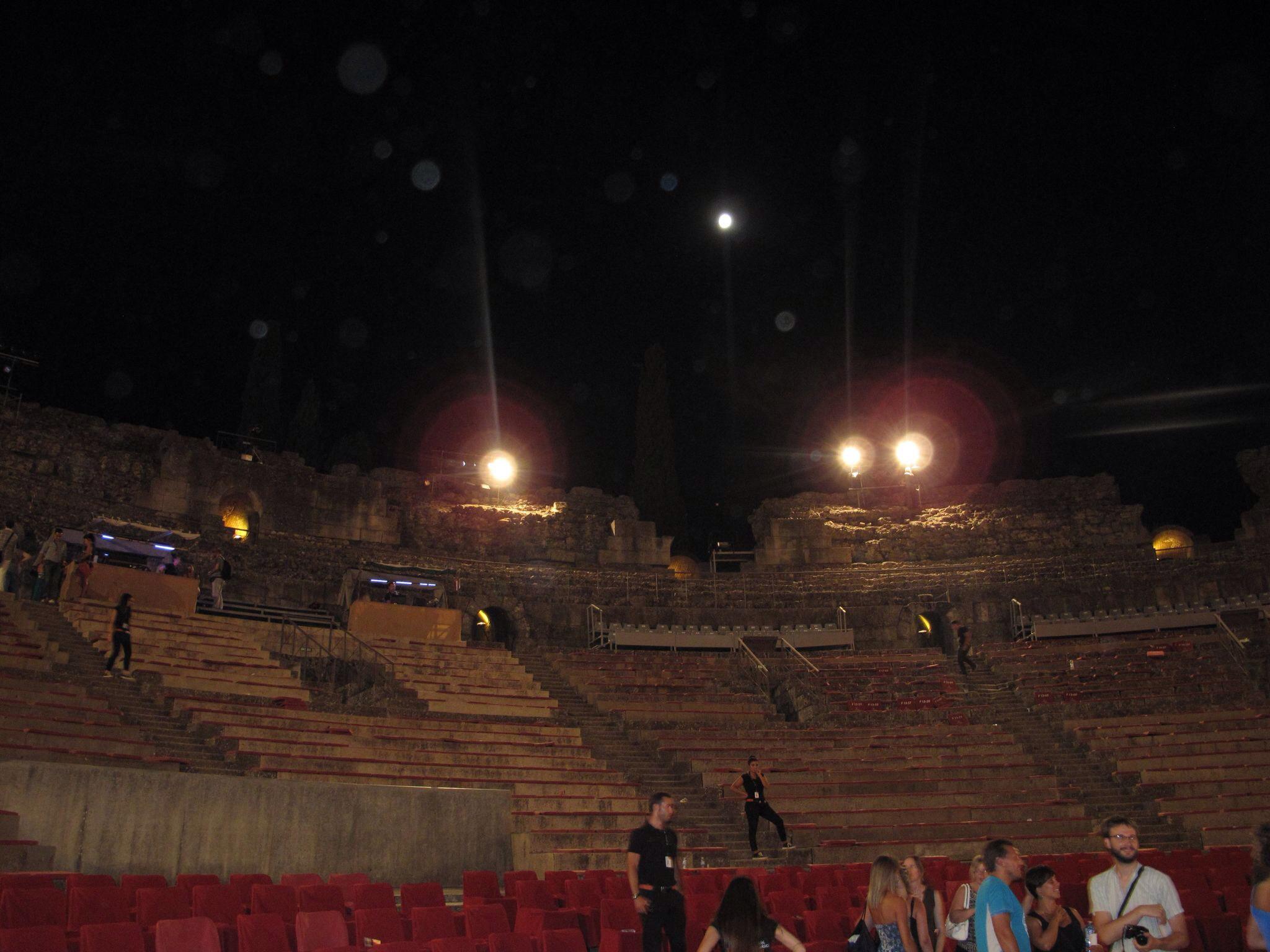 teatro romano merida_cavea_las siete sillas