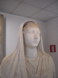 Portrait of Livia from Villa of Mysteries at Pompeii - Antiquarium of Boscoreale / Naples