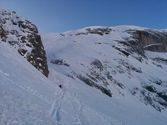 Aufstieg Skitour Kleine Gaisl Richtung Cocodainscharte