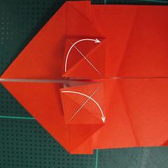 การพับกระดาษเป็นรูปปลาทอง (Origami Goldfish) 011