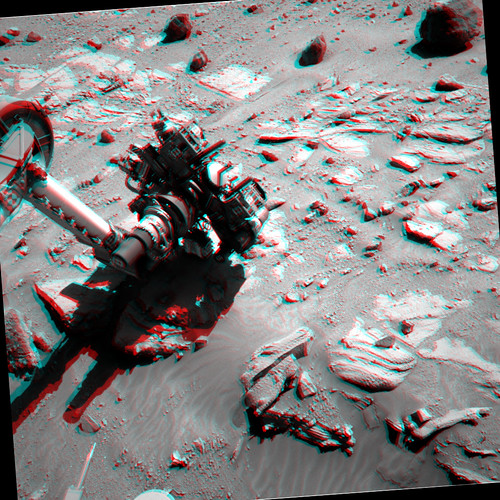 Curiosity sol 611 APXS X-ray anaglyph