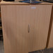 Tall maple 2 door storage unit