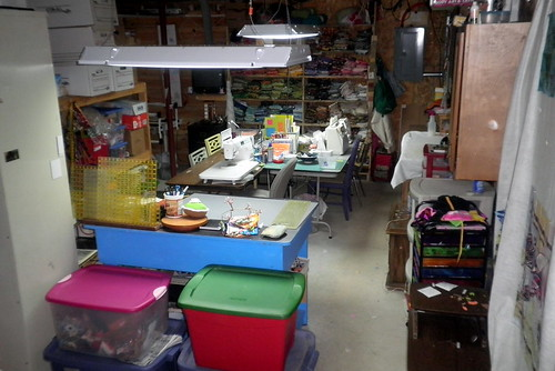A view of my craft room from the stairs