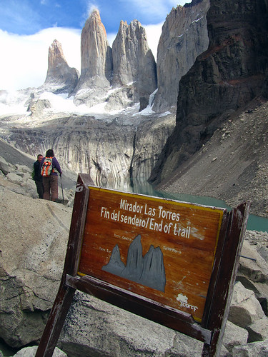 End of trail to Torres del Paine