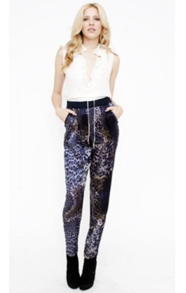 Of two minds palma silk high-waist pants