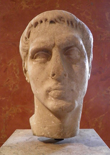 Marcellus, Nephew of the emperor Augustus (27 BC to AD 14), c. 25 BC, from Kea (Cyclades) Greece, Louvre Museum