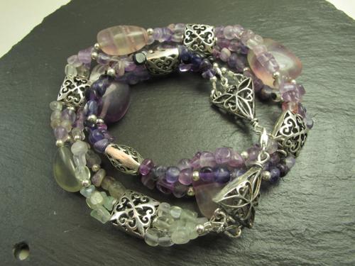 Fluorite wrap bracelet