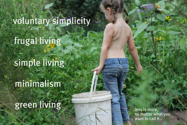 Less is more no matter what you want to call it: voluntary simplicity, frugal living, simple living, minimalism, green living
