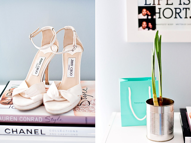 wedding shoes+ paper whites