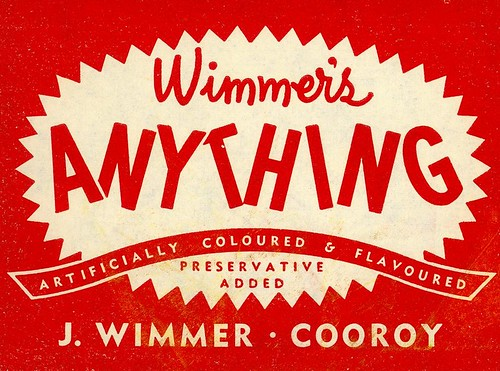Wimmer's Anything softdrink label
