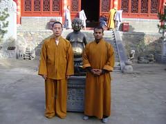 Tue, 15/03/2011 - 06:16 - Shaolin warrior Shifu Shi Yanfang and Shifu Kanishka in Shaolin Temple Medicine hall Shaolin Kung Fu India