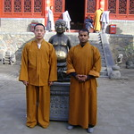 Shaolin warrior Shifu Shi Yanfang and Shifu Kanishka in Shaolin Temple Medicine hall Shaolin Kung Fu India