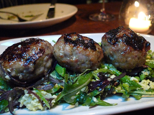 Grilled Pork Meatballs at Sotto