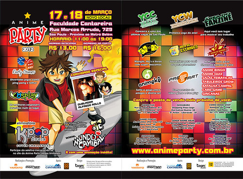 flyer anime party 2012