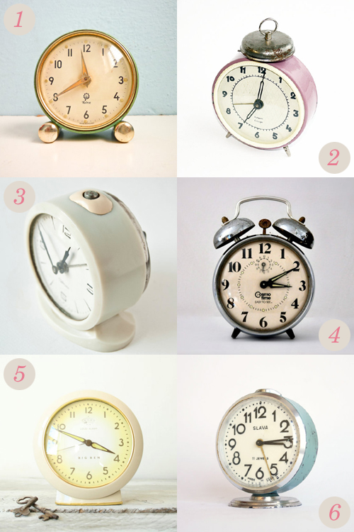 Vintage mechanical alarm clocks from Etsy | Emma Lamb