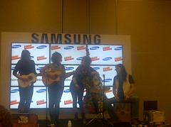 The Sweetness plays the Samsung Bloggers' Lounge