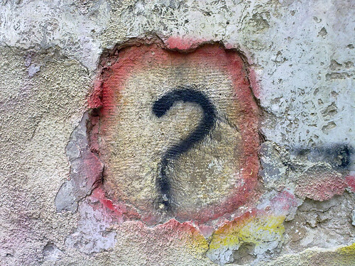 Question Mark Graffiti by Bilal Kamoon