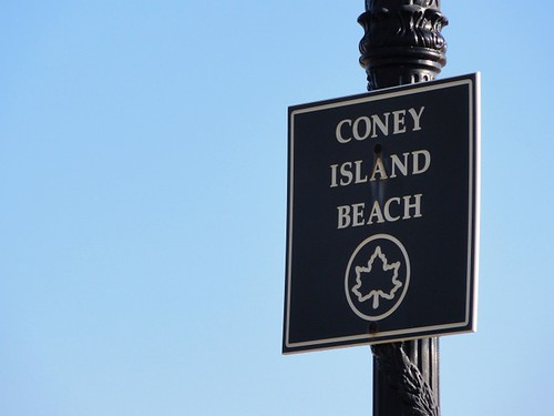 Coney Island Beach Sign