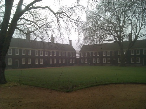 Geffrye museum in the fog
