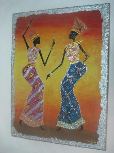 Telas Africanas: decoupage
