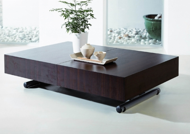 table basse relevable transformable extensible ella neuf ebay. Black Bedroom Furniture Sets. Home Design Ideas