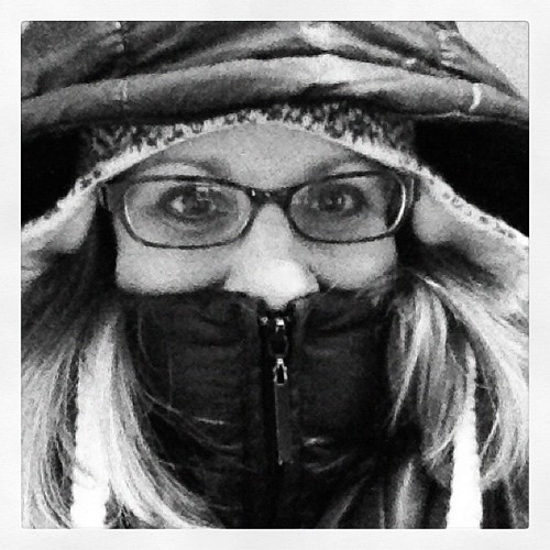 Feb Photo a Day: Day 10: Self Portrait. Holy smokes its cold today!!!