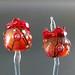 Earring pair : Fruit of fire