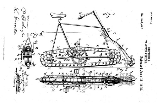 "Traction ""Vehicle"" (Bicycle Patent, 1895)"