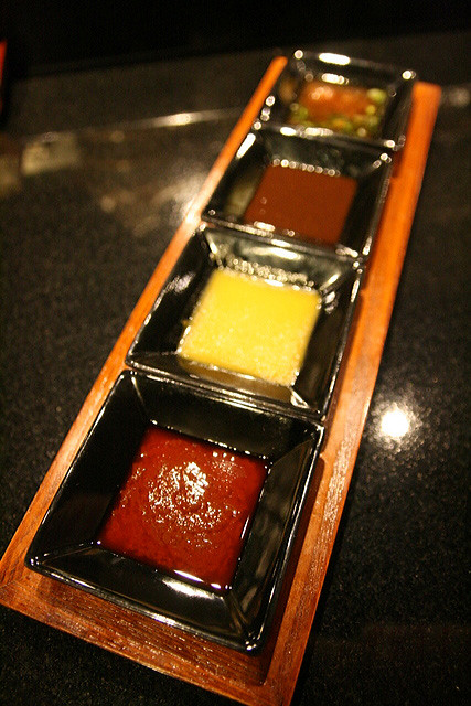 Sauces for the robata grilled items