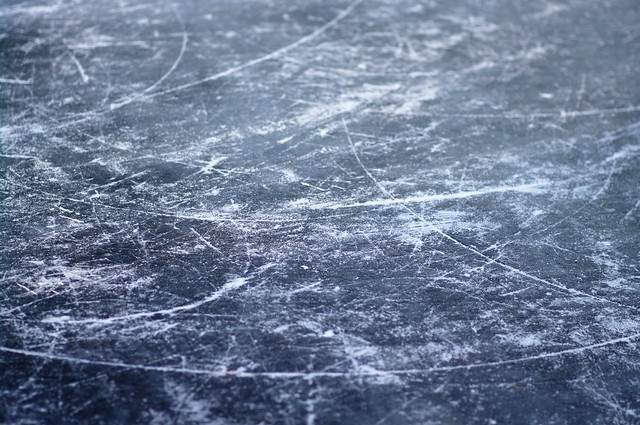 scratches on ice