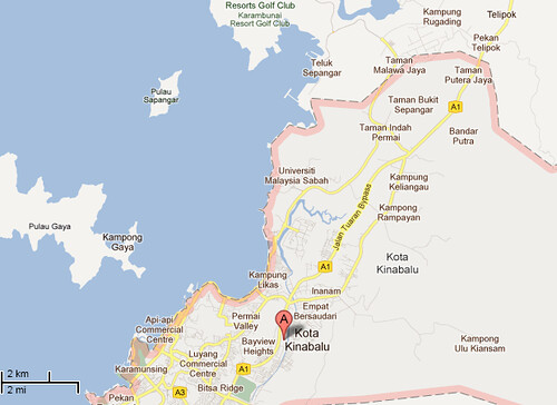 KK Map Pulau Sepanggar