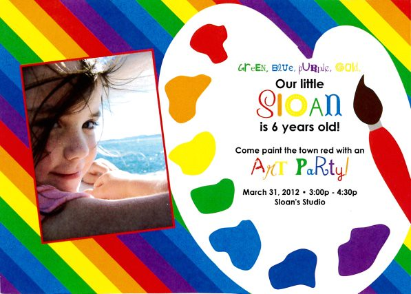 sloan art party invite