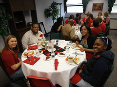 Students enjoying the luncheon