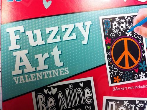Fuzzy Art Valentines