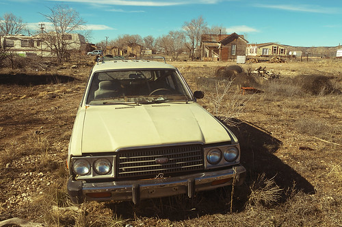 abandoned car, Seligman