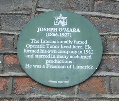 Photo of Joseph O'Mara green plaque