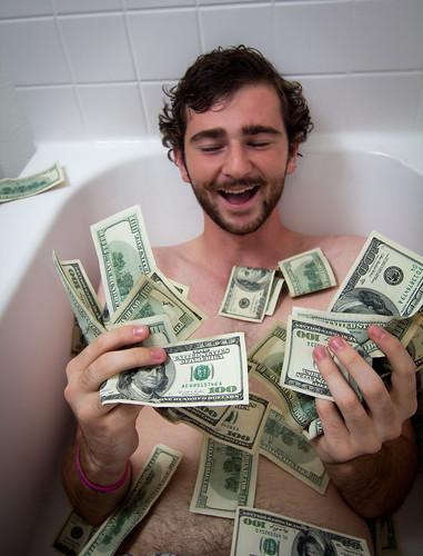 無料写真素材, 人物, 男性, 笑顔・スマイル, お金・貨幣