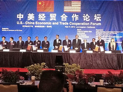 Governor Neil Abercrombie this morning at the US-China Economic and Trade Cooperation Forum & Signing Ceremony in Los Angeles, CA.