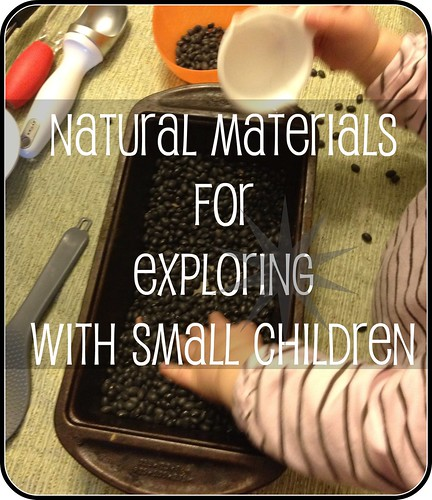 natural materials for exploring with small children