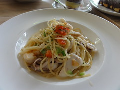 Seafood Spaghetti at Levain Boulangerie & Patisserie