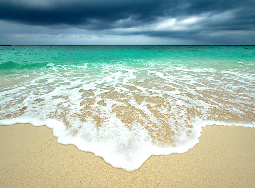 ocean sea storm beach water clouds sand wave bahamas