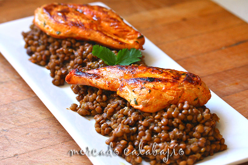 Recetas De Cocina Marroqui | Pollo Chermoula Con Lentejas Marroquies Mercado Calabajio
