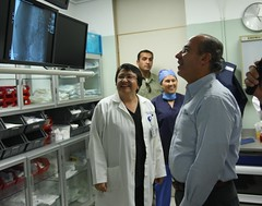 President Felipe Calderon inaugurates a new hospital in Baja California