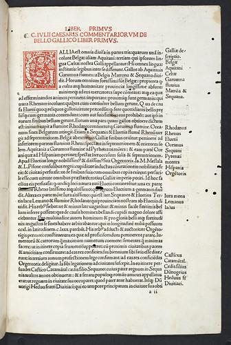 Printing in red in Caesar, Gaius Julius: Commentarii